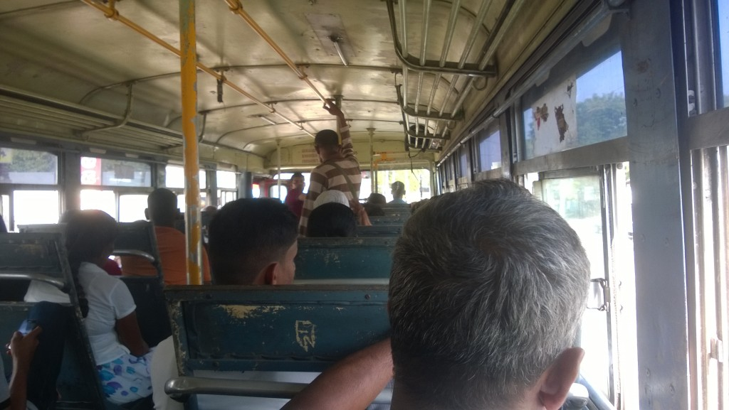 On the bus from Colombo to Arugam Bay, Sri Lanka