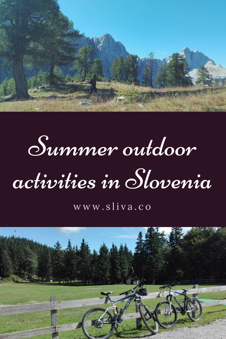 Summer outdoor activities in Slovenia