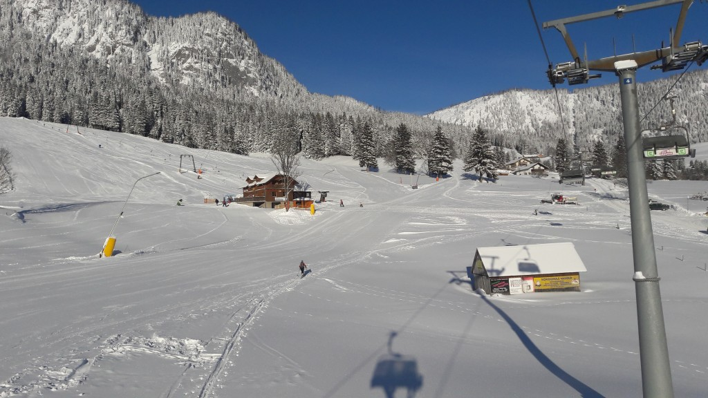 The view from ski lift in Tauplitz