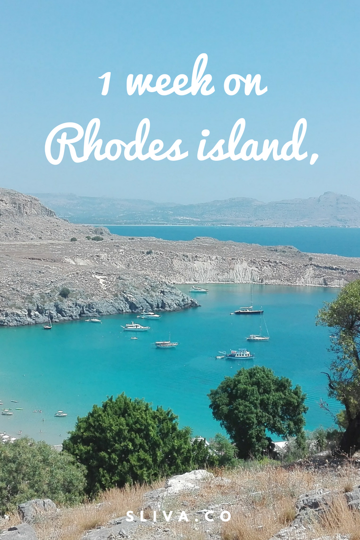 Relaxing, yet exploring week on Rhodes island, Greece
