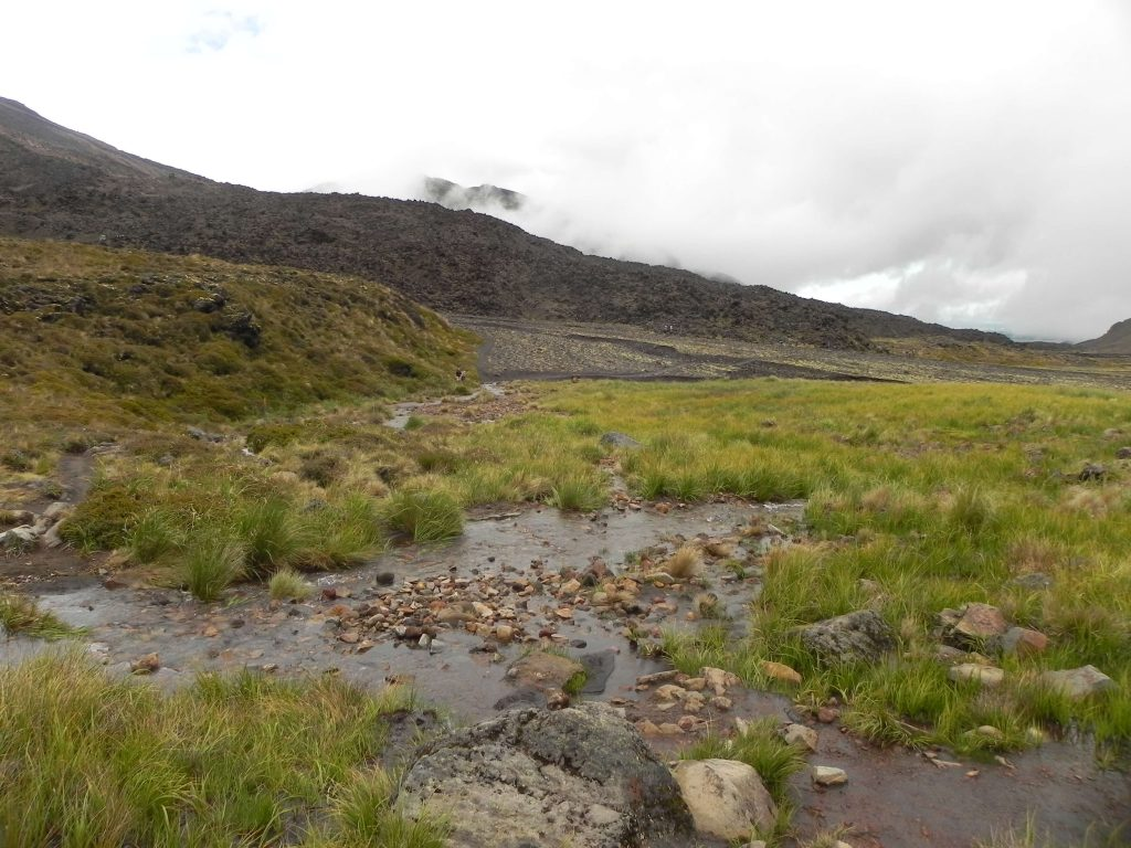 Tongariro crossing landscape