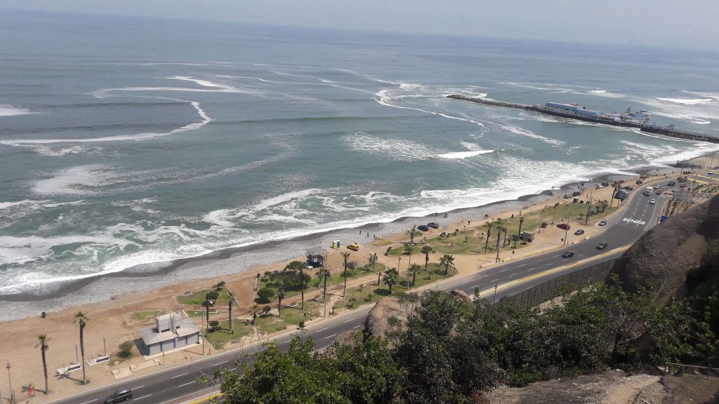 Lima seaside view, from Miraflores district.