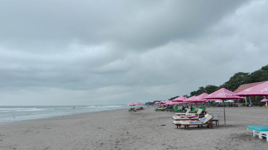 At Seminyak beach