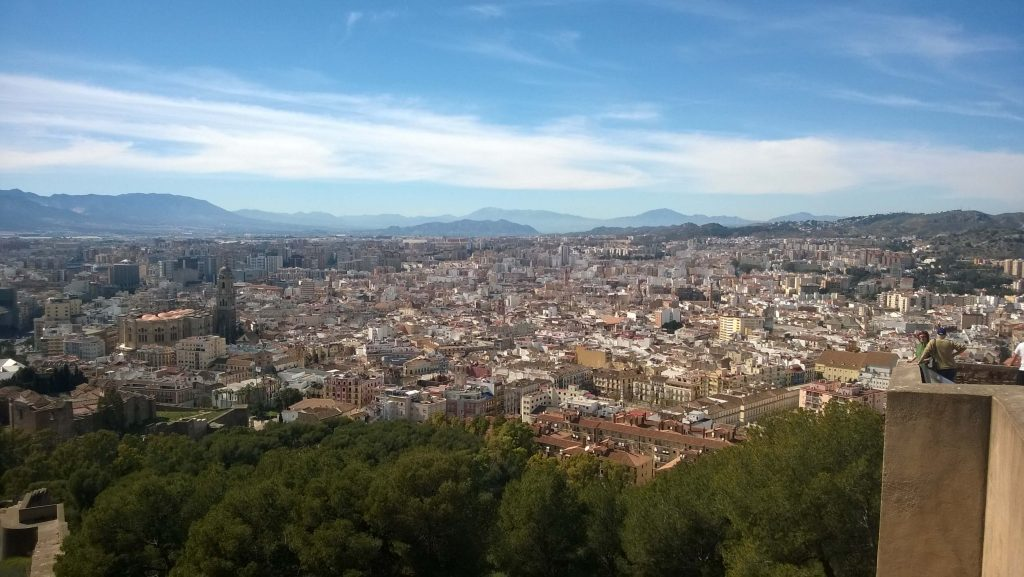 The view from castle Gibralfaro situated above Malaga city.