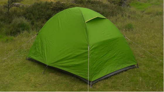The story of our little green tent