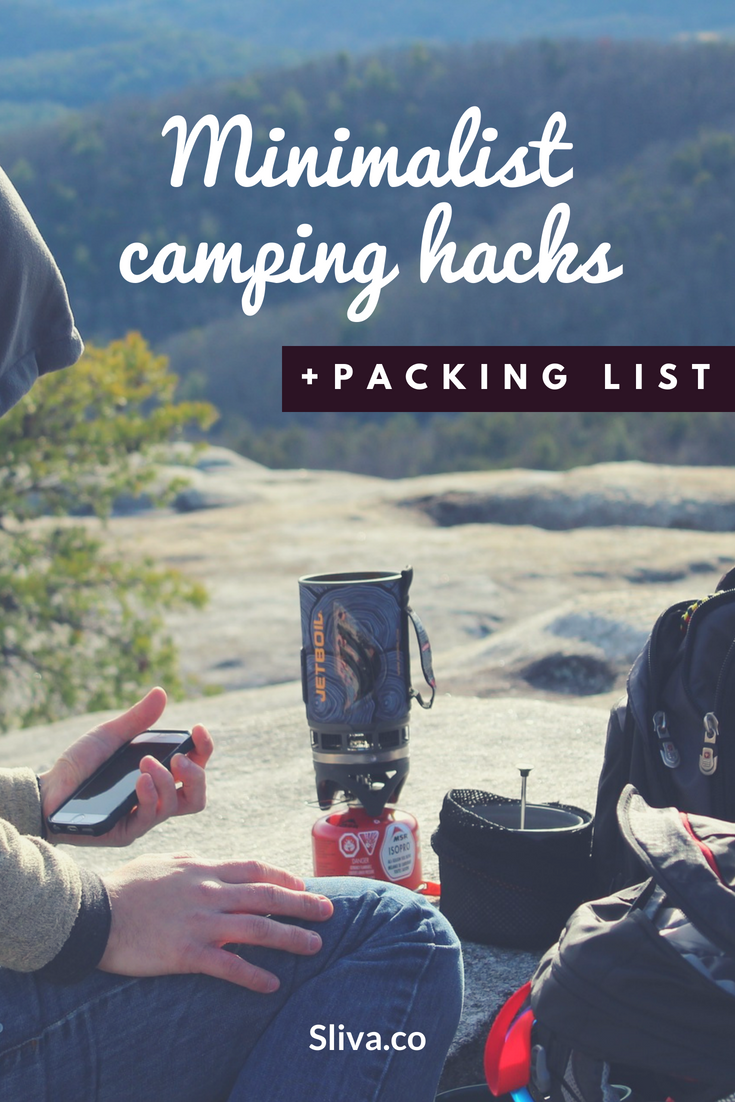 Minimalist camping hacks & packing list