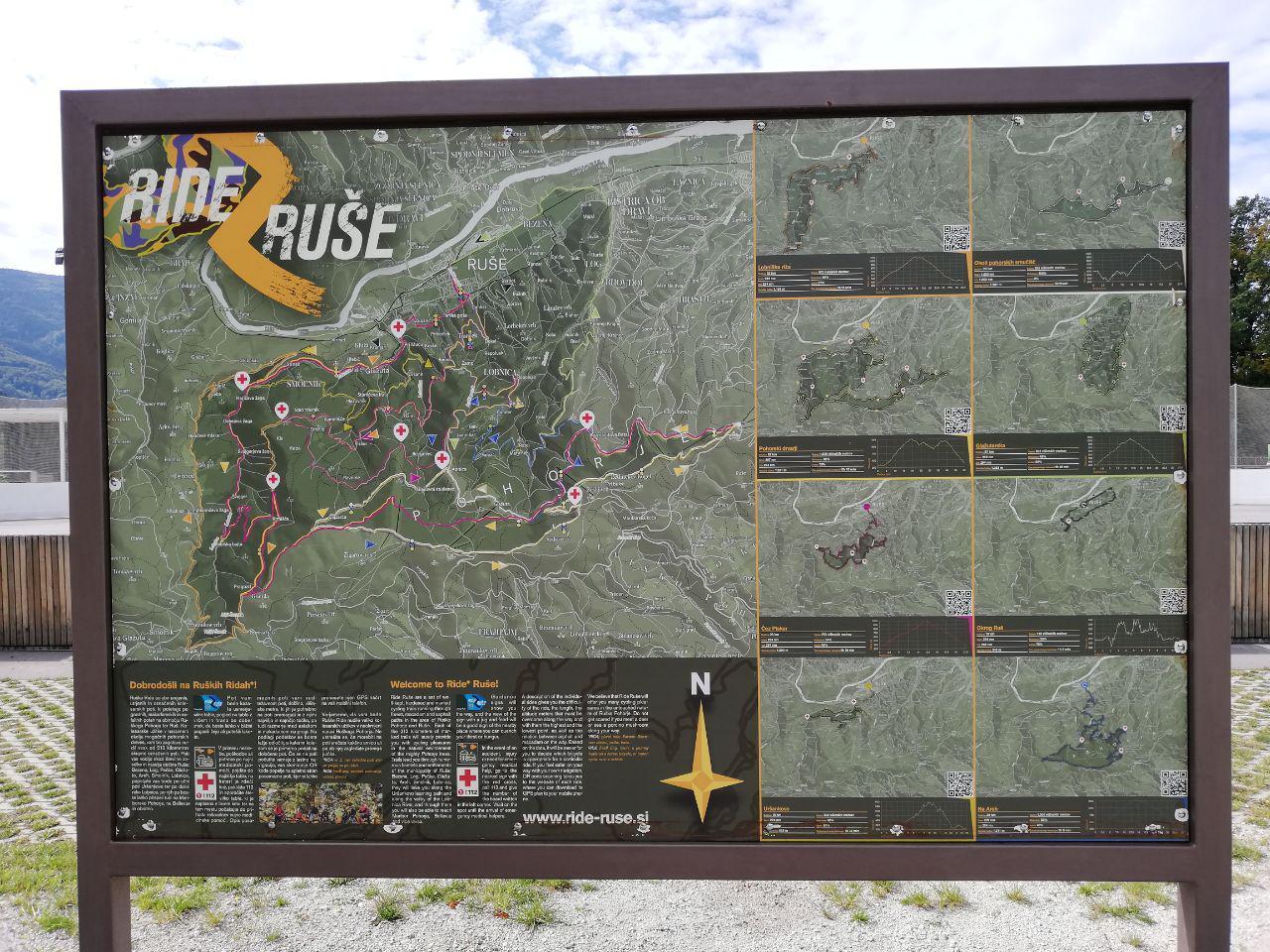 bike trails Ruše
