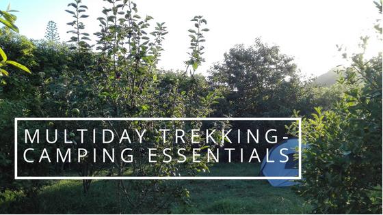 Essentials for multiday trekking-camping trip