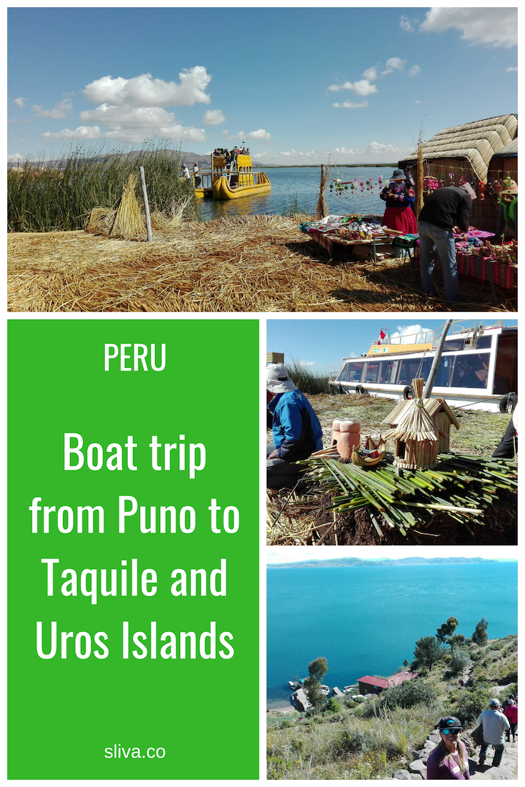 Boat trip from Puno to Taquile and Uros Islands, Peru #Peru #Titicacalake #Urosislands #Taquileisland