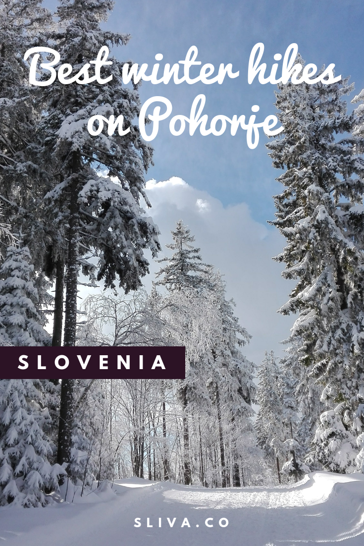 Best winter hikes on Pohorje, Slovenia #hike #hiking #Slovenia #Pohorje #Rogla #MariborPohorje #hikingtips