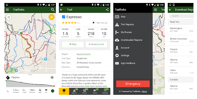 Trailforks_mountain biking app