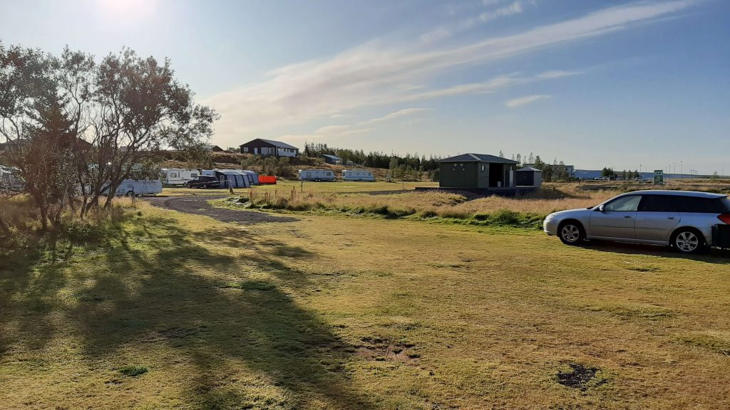 One of the campgrounds in Iceland.