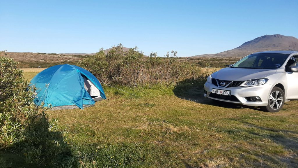 Campground in Thingvellir National Park