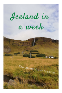 Iceland in a week (the cheapest way possible)