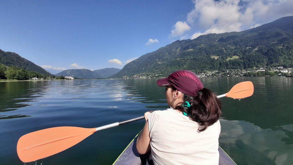 Kayaking on Ossiacher See