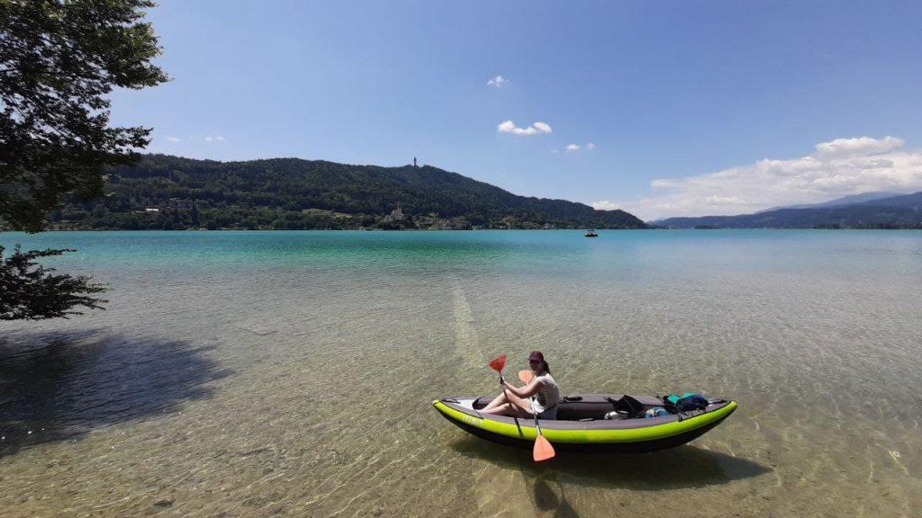 Kayaking on Wörthersee