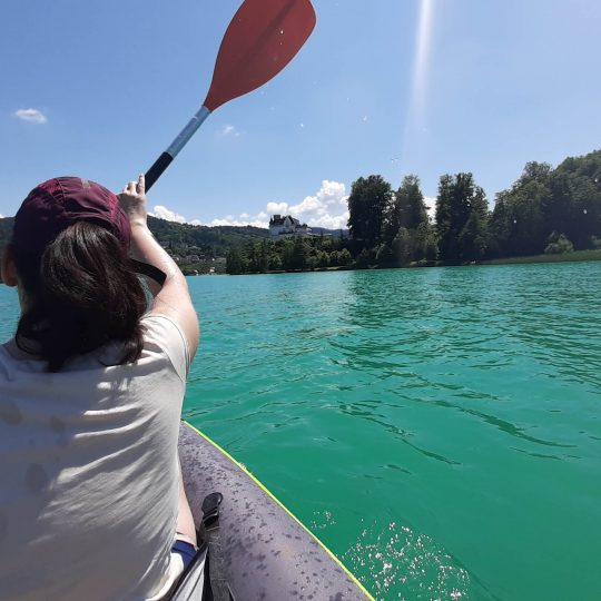 Kayaking the lakes of Austria